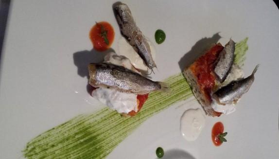 Grano Enkir - Focaccia, Burrata e Acciughe