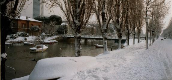 Cesenatico sotto la neve - foto di Luciano Nanni