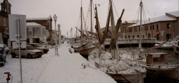 Il Canale Leonardesco sotto la neve - foto di Luciano Nanni