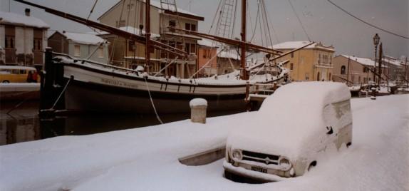 Cesenatico sotto la neve