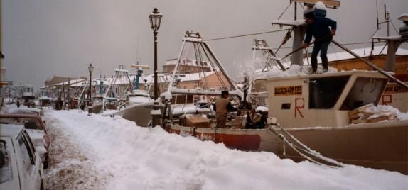 I pescherecci sotto la neve