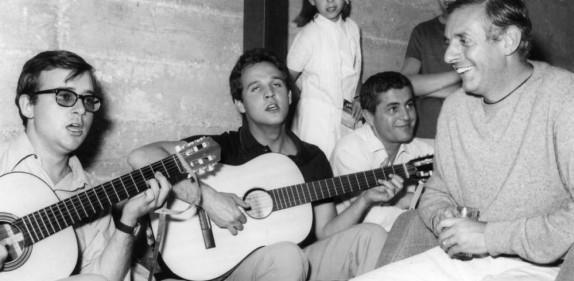 Dario Fo con Cochi e Renato - foto di Stignani