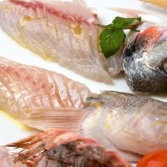 Crudità di pesci sfilettati al coltello
