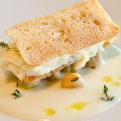 Merluzzo mantecato, crema di patate e ceci