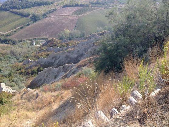 I nostri itinerari in Romagna: il Parco della Vena del Gesso Romagnola - i calanchi