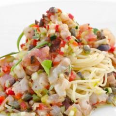 Spaghettino freddo in Crudità, Pesci, Crostacei e Verdure